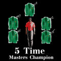 Tiger 5 Time Master Championships Graphic Tee, 1997, 2001, 2002, 2005, 2019