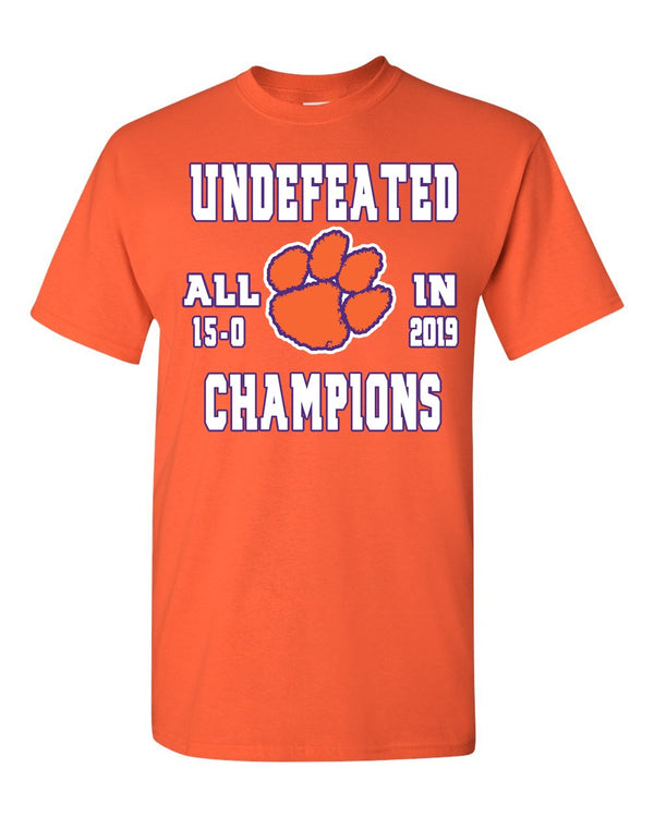 Clemson Tiger's 2019 Undefeated Championship T Shirt