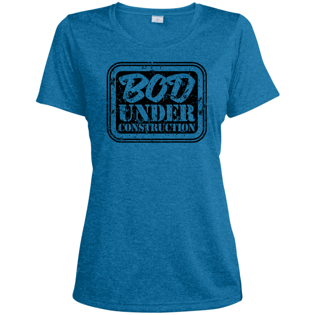 LST360 Sport-Tek Ladies' Heather Dri-Fit Moisture-Wicking T-Shirt - Bod Under Construction