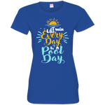 3516 LAT Ladies' Fine Jersey T-Shirt--Pool Day
