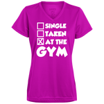 Single, Taken, At the Gym Ladies' Wicking T-Shirt