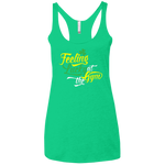 NL6733 Next Level Ladies' Triblend Racerback Tank--Feeling Lucky