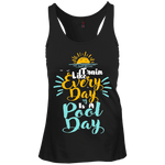 DT237 District Junior's Racerback Tank Top--Pool Day