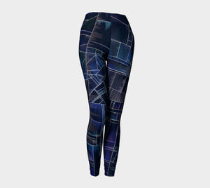 Simply Abstract Negative Leggings