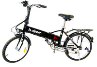 "Z1 7-Speed Compact Folding Electric Bike 20"" - Black - IG Gifts"