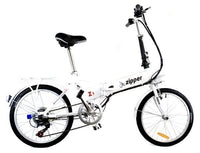 "Z1 7-Speed Compact Folding Electric Bike 20"" - Titanium White - IG Gifts"