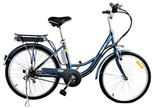 "Z3 City Electric Bike 24"" - Steely Blue - IG Gifts"