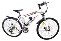 "Z6 21-Speed Ultimate Edition Electric Mountain Bike 26"" - White - IG Gifts"