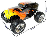 Hot Rod 1:10 Scale Electric Radio Controlled 4WD Monster Truck - IG Gifts