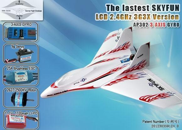 Skyfun Delta-Wing RC Plane With 3G3X Auto Pilot - RTF 2.4GHz - IG Gifts