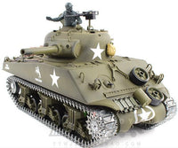 1/16th M4A3 Sherman Remote Controlled Tank With Smoke & Sound 2.4Ghz - WITH FREE EXTRA BATTERY WORTH 19.90$!