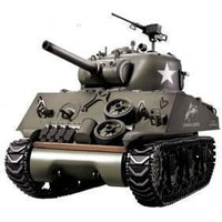 1/16th M4A3 Sherman Remote Controlled Tank With Smoke & Sound 2.4Ghz - WITH FREE EXTRA BATTERY WORTH 19.90$! - IG Gifts
