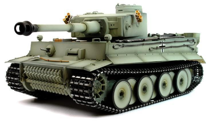 Taigen Hand Painted RC Tank Tiger I Grey Camo - Full Metal Upgrade