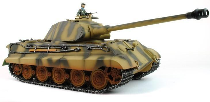 Taigen Hand Painted Rc Tank Full Metal Upgrade King Tiger 2 4ghz