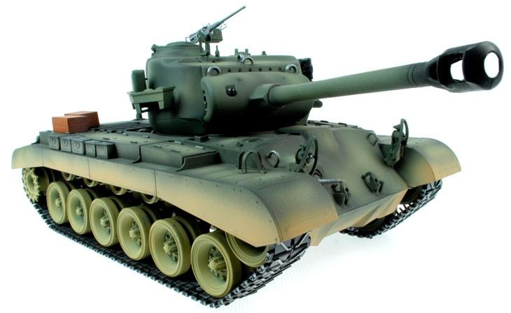Taigen Hand Painted RC Tanks - Metal Upgrade - M26 Pershing - IG Gifts