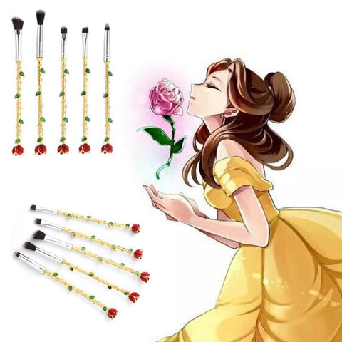 Beauty and the Beast Rose Makeup Brush Set