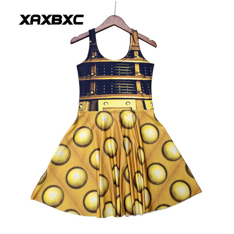 Doctor Who Dalek Cosplay Reversible Skater Dress