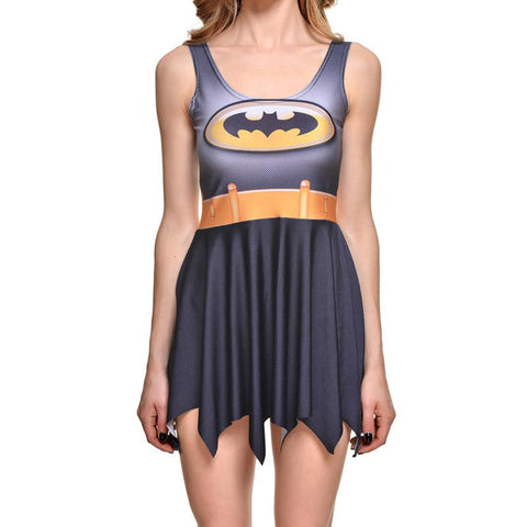 Classic Batman Cosplay Skater Dress