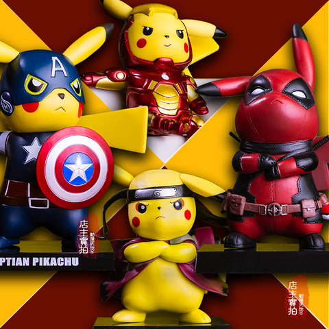 Pikachu Cosplay Mashup Figures Mutiple Designs