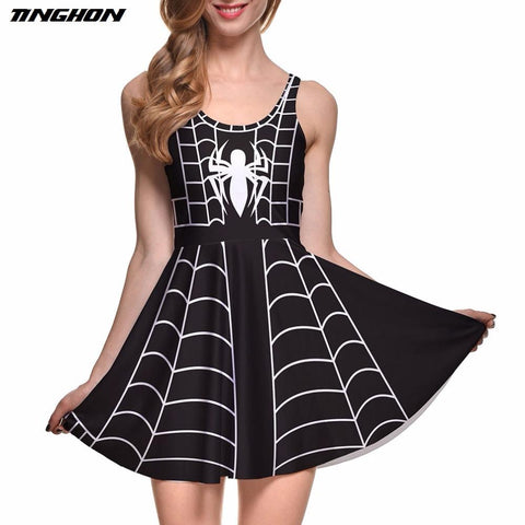 DC Comics Spiderman Spiderweb Skater Dress