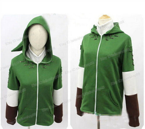 The Legend of Zelda Cosplay Link Zipper Hoodie