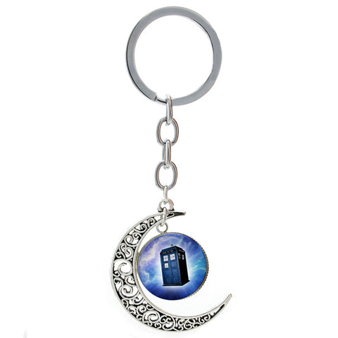 Ultimate Nerd Cresent Moon Keychain Multiple Designs