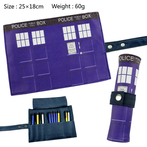 Doctor Who Tardis Artist Brush Roll