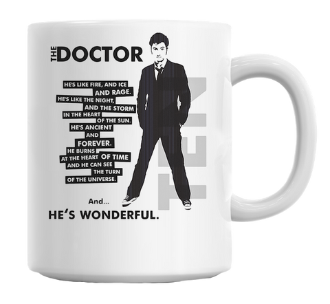 Doctor Who He's Wonderful Mug