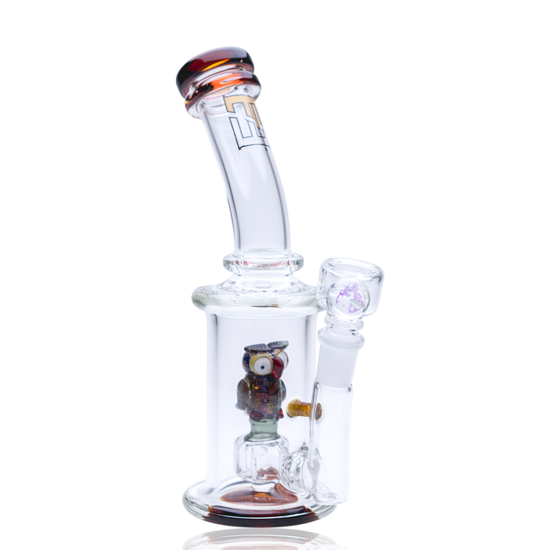 Empire Glassworks - Mini Rig - Owl ,  - Weedcommerce Marketplace