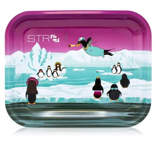 STR8 Metal Rolling Tray - Stoney Penguins - Large (1 Count)