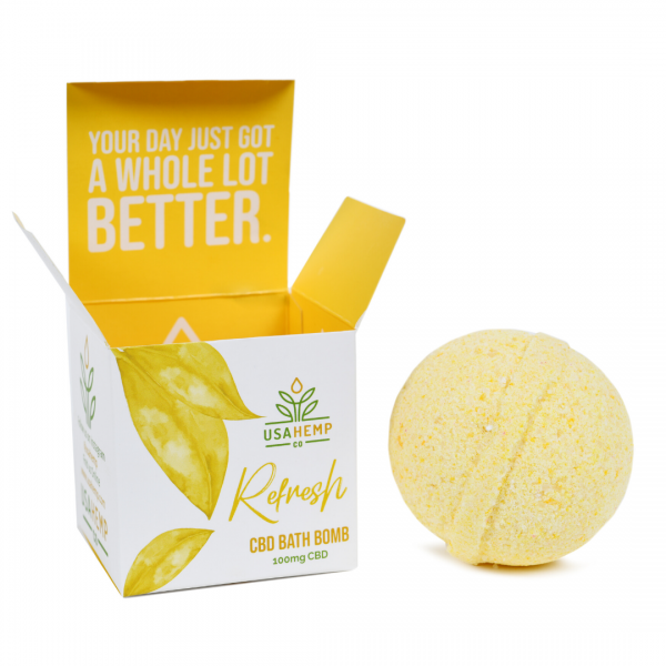 Refresh CBD Bath Bomb (100MG CBD) ,  - Weedcommerce Marketplace