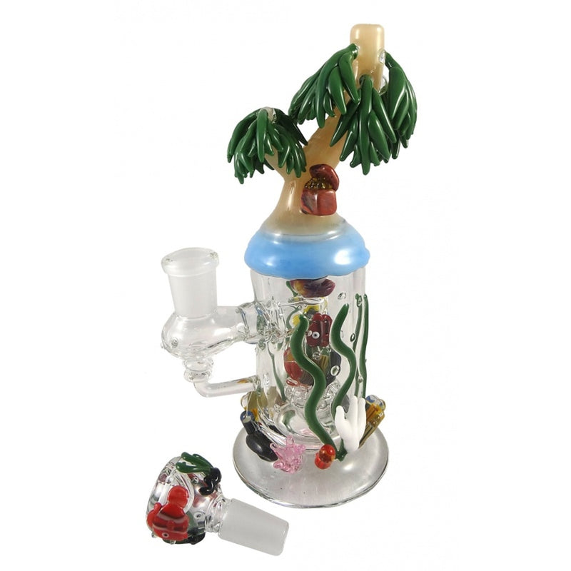 Empire Glassworks - Mini Rig - Paradise Island ,  - Weedcommerce Marketplace