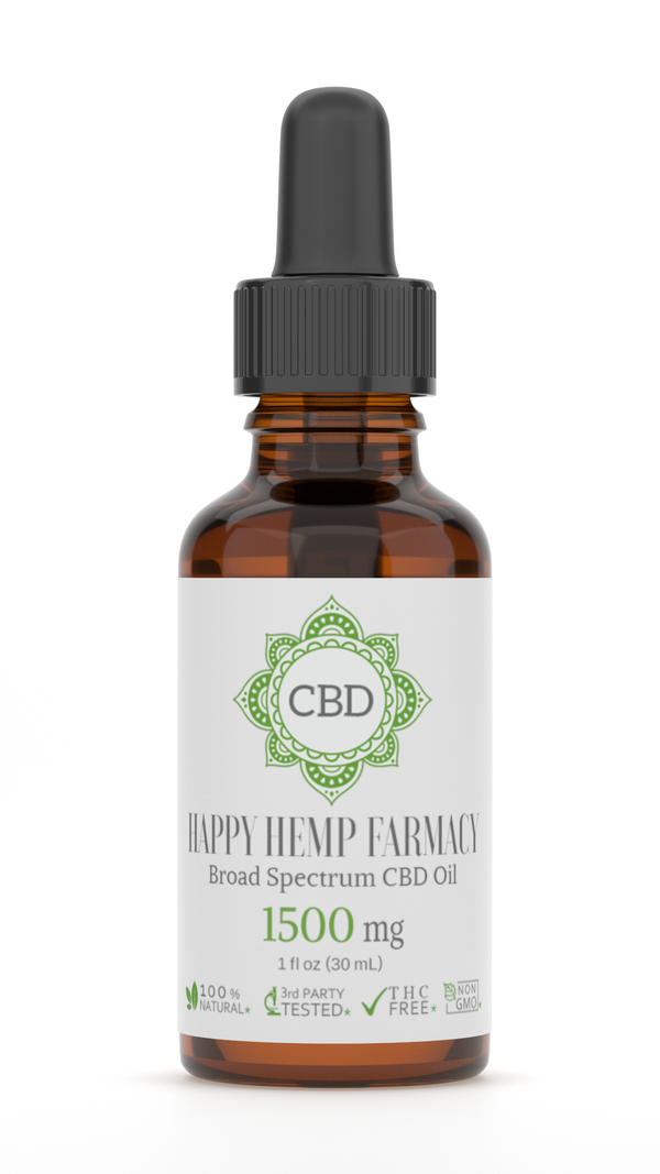 1500MG BROAD SPECTRUM THC FREE CBD OIL 30ML TINCTURE ,  - Weedcommerce Marketplace