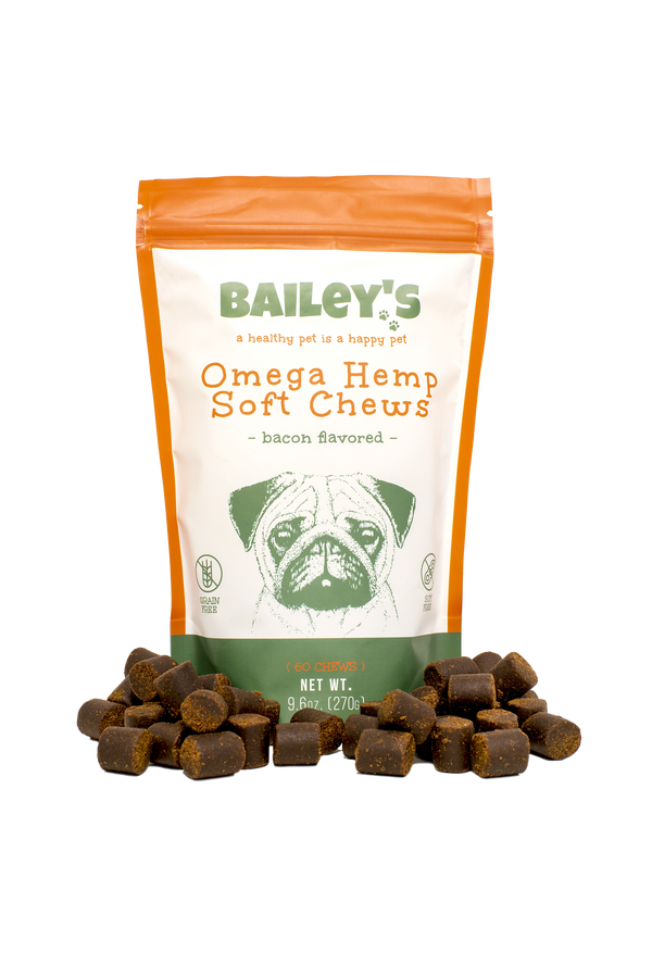 Bailey's Omega Hemp Soft Chews - Bacon Flavored- 60 Count (NEW!) ,  - Weedcommerce Marketplace