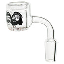 Cheech & Chong - Up In Smoke Qaurtz Bangor 18mm Male 90 Degree - (1 Count)