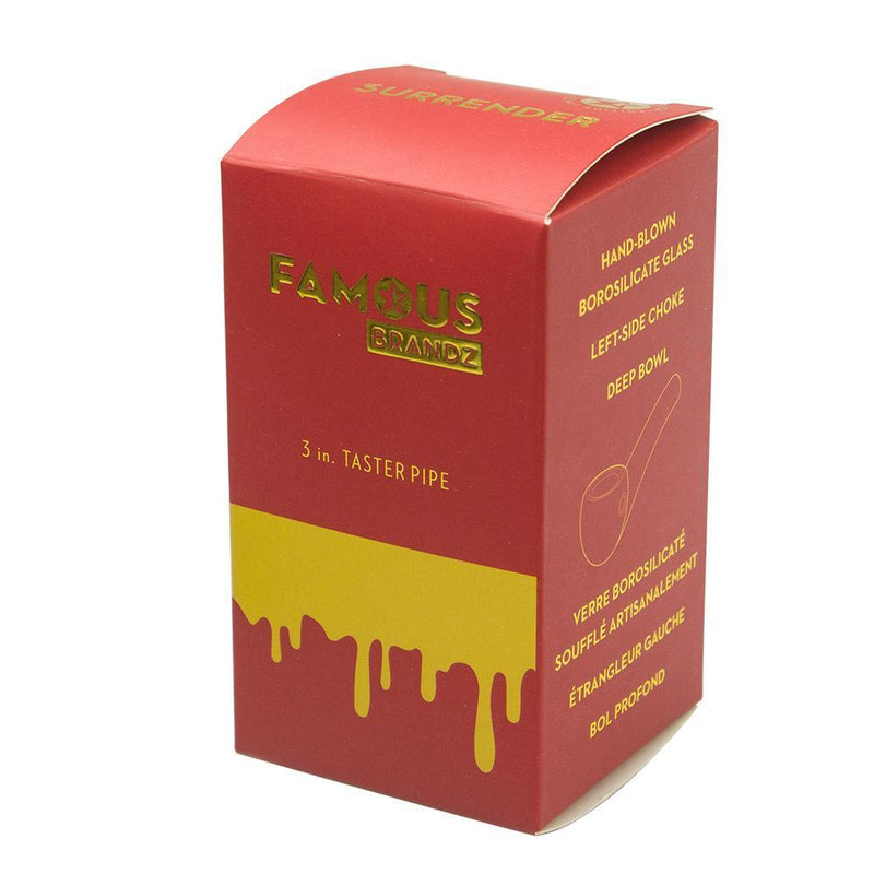 Famous Brandz-Surrender-Taster Hand Pipe-1 Count ,  - Weedcommerce Marketplace