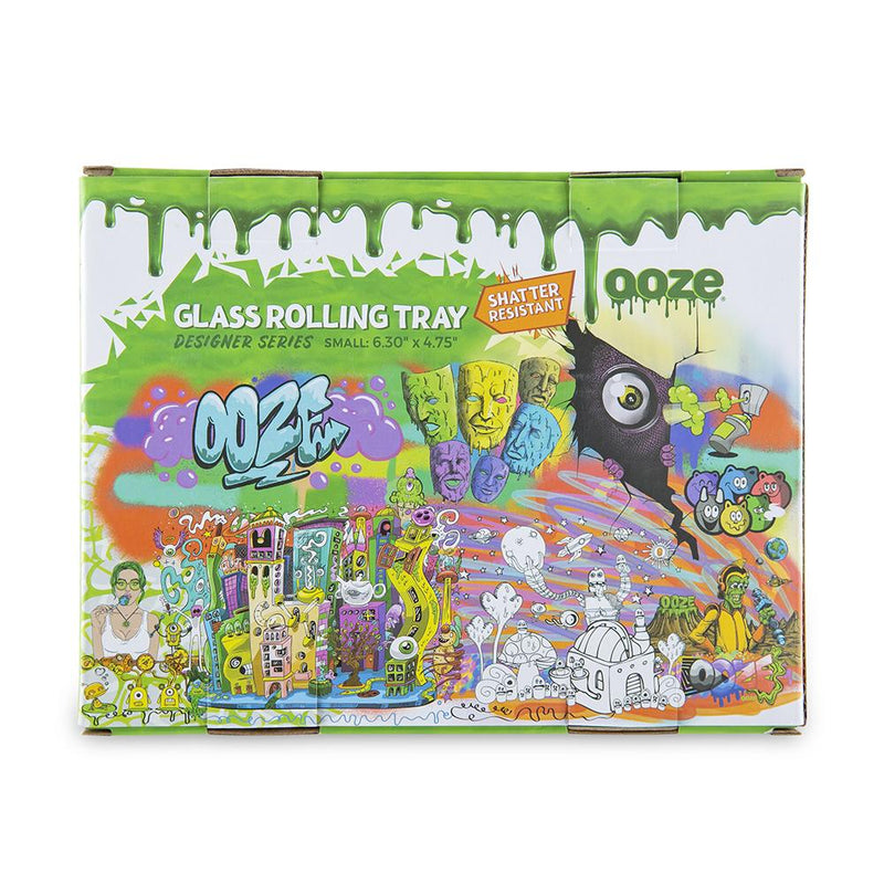 "OOZE - ""Ooze Slime Logo"" - Shatter Resistant Glass Tray - Small or Medium (1 Count)"