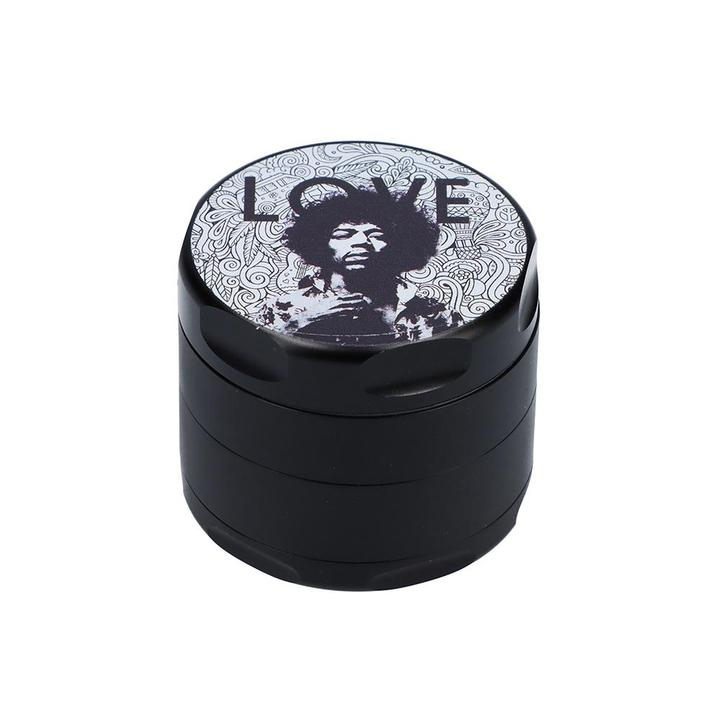 Rock Legends Jimi 55mm 3 Stage Grinder - Various Designs - (1 Count)
