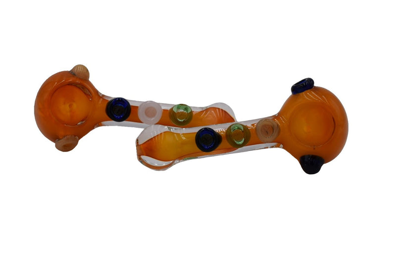 "3"" Orange Fume Belly Button Hand Pipes -  (1 Count)"