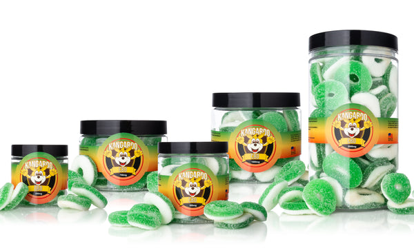 Kangaroo CBD Infused Apple Gummy Rings ,  - Weedcommerce Marketplace