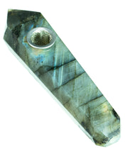 Labradorite Quartz Stone Pipe , spoon - Weedcommerce Marketplace