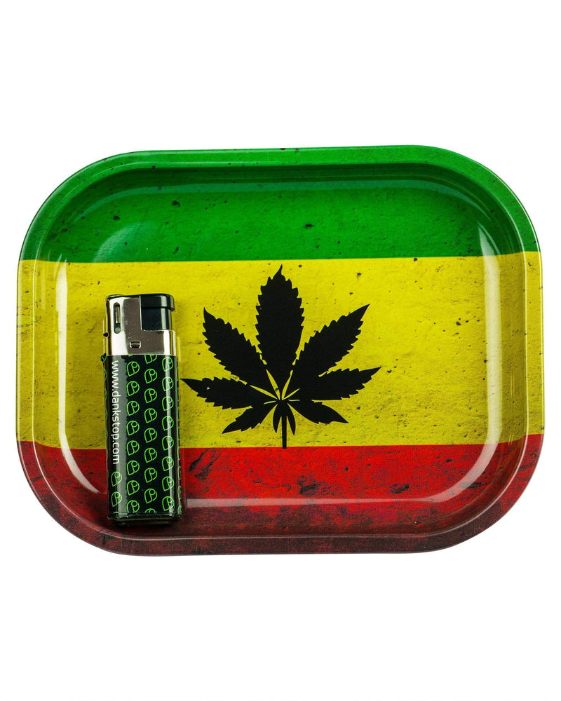Rasta Flag Pot Leaf Tray