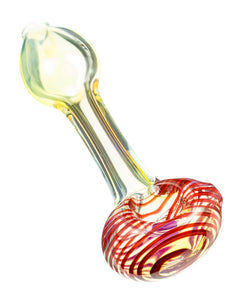 Spiral Face Fumed Mini Spoon Pipe