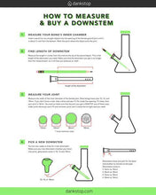 18mm to 18mm Diffused Downstem , downstem - Weedcommerce Marketplace