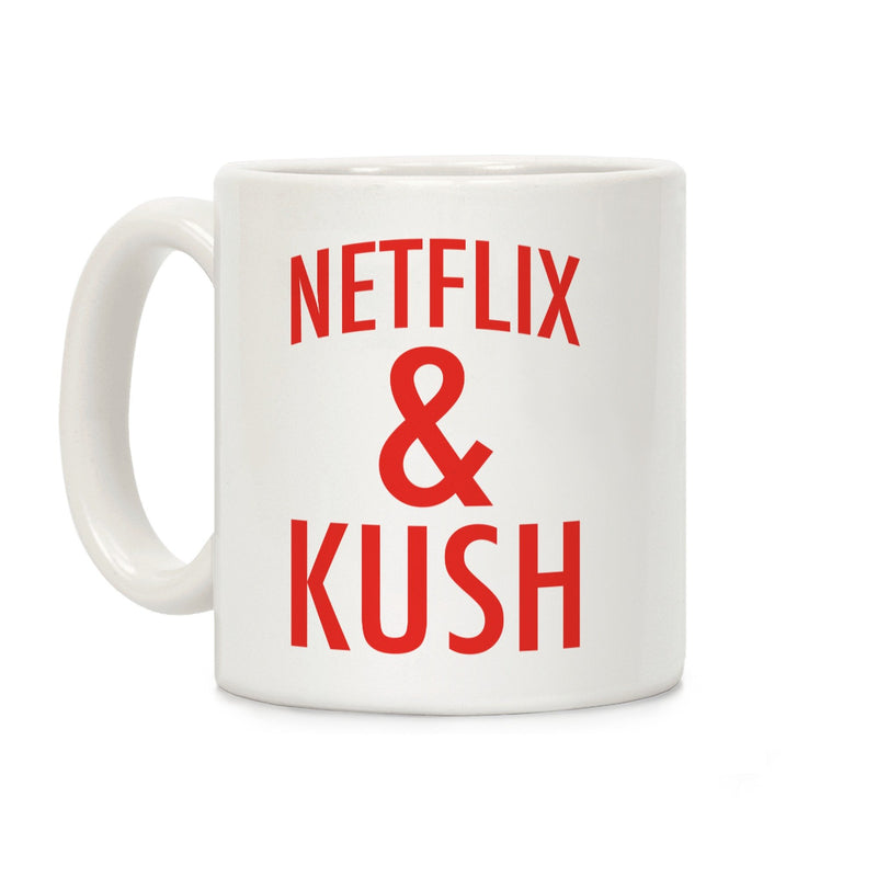 Netflix & Kush Ceramic Coffee Mug by LookHUMAN ,  - Weedcommerce Marketplace