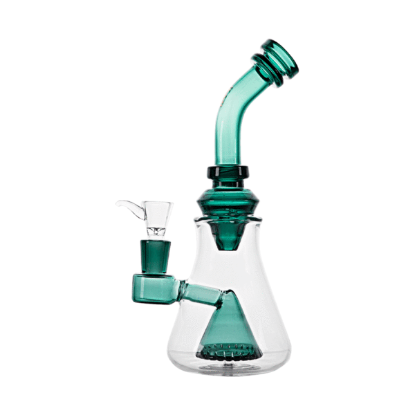 Hemper Luxe Hourglass Rig - Teal - 1 Count ,  - Weedcommerce Marketplace
