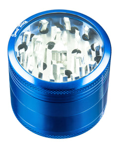 4-Piece Medium Diamond Teeth Clear Top Aluminum Grinder for $19.99 at Weedcommerce Marketplace