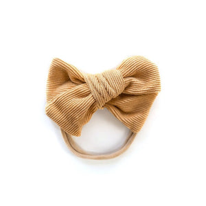 Corduroy Nylon Headband in Goldie