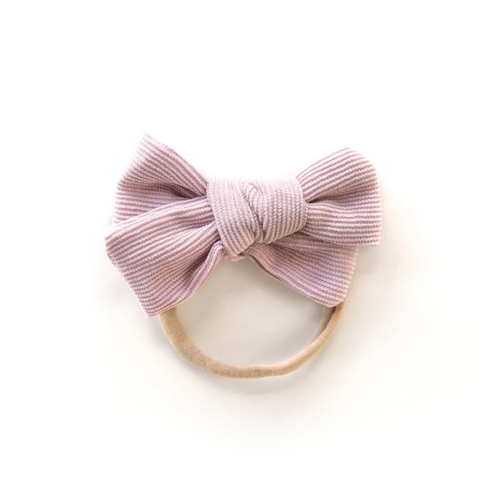 Corduroy Nylon Headband in Lilac