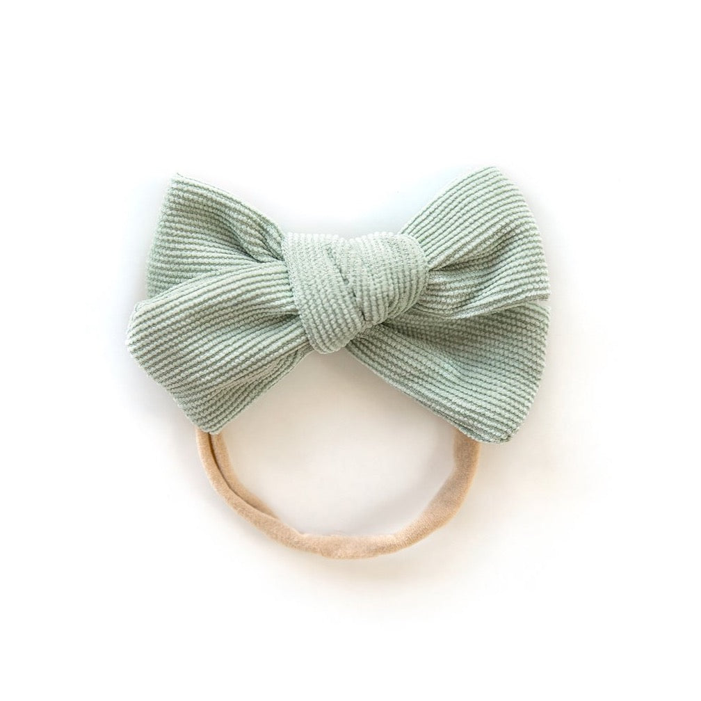 Corduroy Nylon Headband in Mint